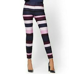 • NY&Co • Audrey MultiColor Stripe Ankle Pant